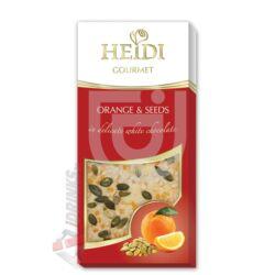 Heidi Gourmet Narancsos-Tökmagos Fehércsokoládé [100g]