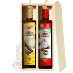 Casali Rum-Kokos - Casali Shoko Bananen Duo Pack Fadobozban [2*0,5L|15%]