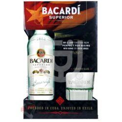 Bacardi Carta Blanca Superior Rum (DD+Pohár) [0,7L 37,5%]