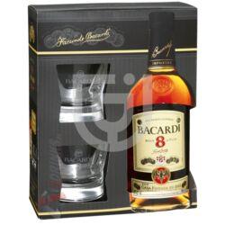 Bacardi 8 Éves Rum (DD+2 Pohár) [0,7L|40%]