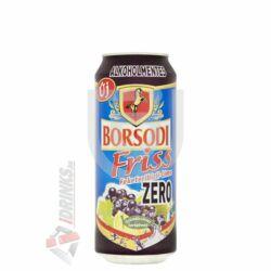 Borsodi Friss Zero Feketeribizli-Lime Alkoholmentes /Dobozos/ [0,5L|0,5%] [24db/pack]