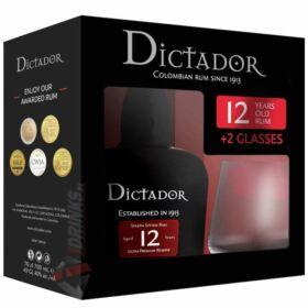 Dictador 12 Years Rum (DD+2 Pohár) [0,7L|40%]