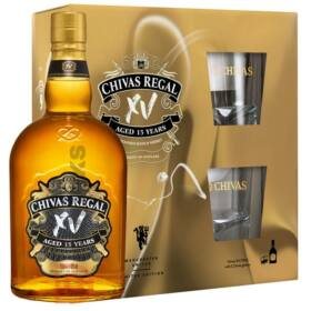 Chivas Regal XV 15 Years Whisky (DD+2 Pohár) [0,7L|40%]