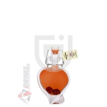 Bolyhos Ágyas Cigánymeggy Pálinka (Szív alakú csatos üveg) [0,04L|50%]