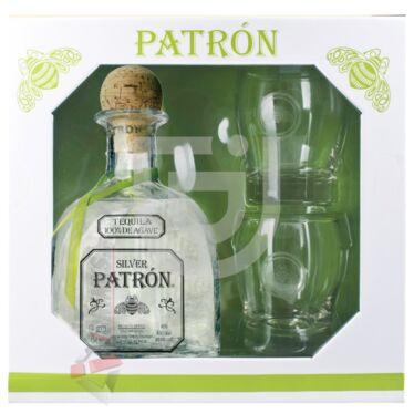 Patron Silver Tequila (DD + 2 Pohár) [0,7L 40%]