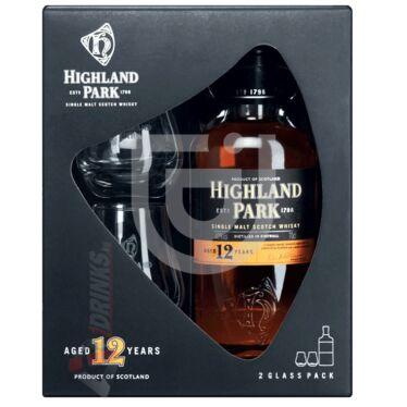 Highland Park 12 Years Whisky (DD+2 Pohár) [0,7L|40%]