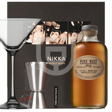 Nikka Pure Malt Black Whisky (DD+ Pohár+ Mérce) [0,5L 43%]