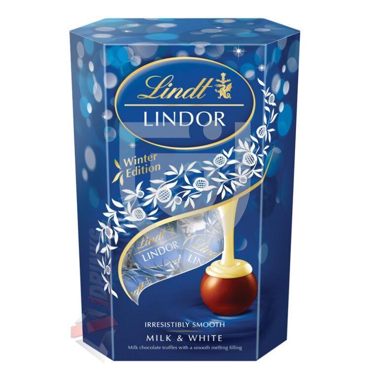 Lindt Lindor Milk & White Csokoládégolyó [200g]