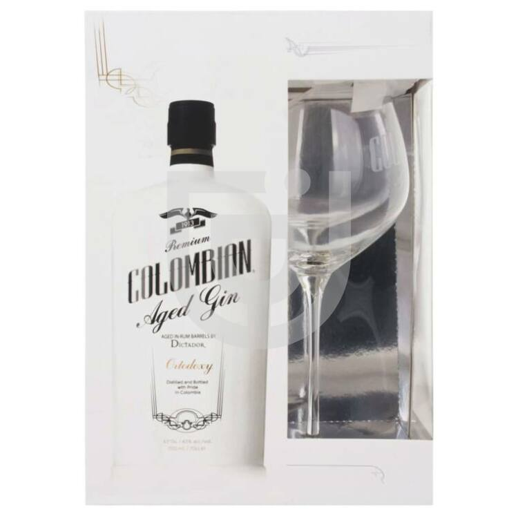Dictador Columbian Aged White Gin (DD+Pohár) [0,7L|43%]