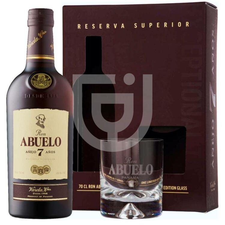 Abuelo 7 Years Rum (DD+Pohár) [0,7L 40%]