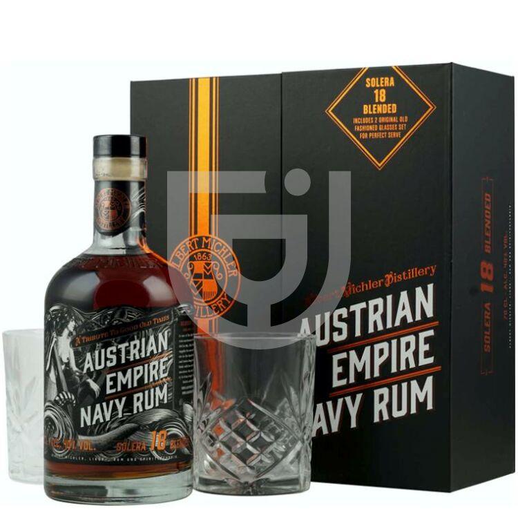 Austrian Empire Solera 18 Years Navy Rum (DD+Pohár) [0,7L|40%]