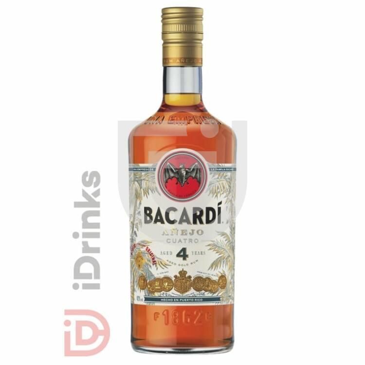 Bacardi Anejo 4 Years Cuatro Rum [0,7L|40%]