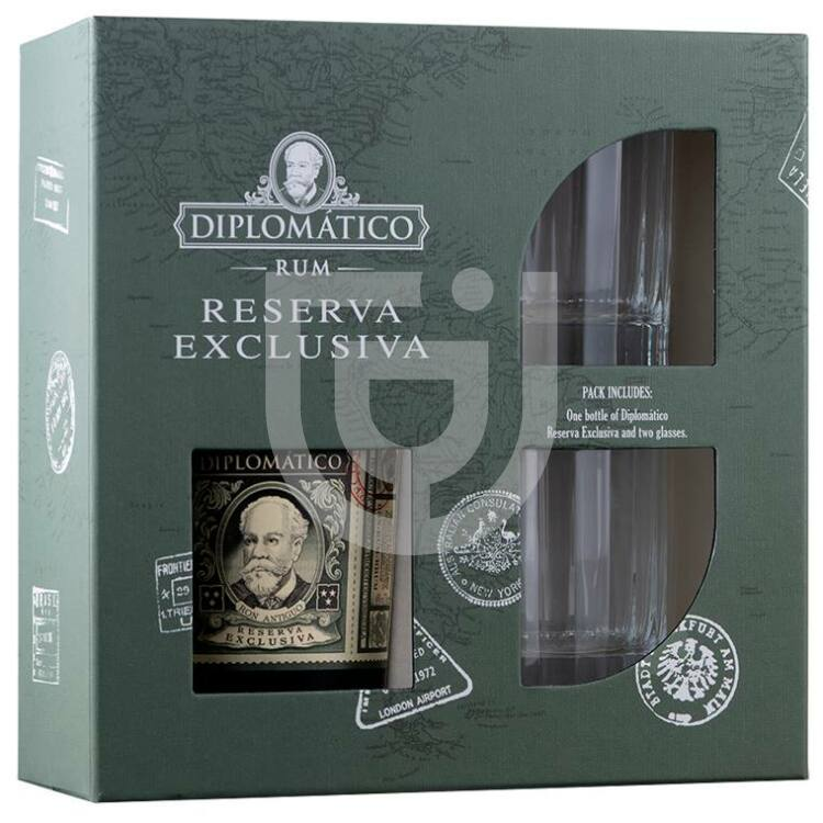 Diplomatico Reserva Exclusiva 12 Years Rum (DD+2 Pohár) [0,7L 40%]
