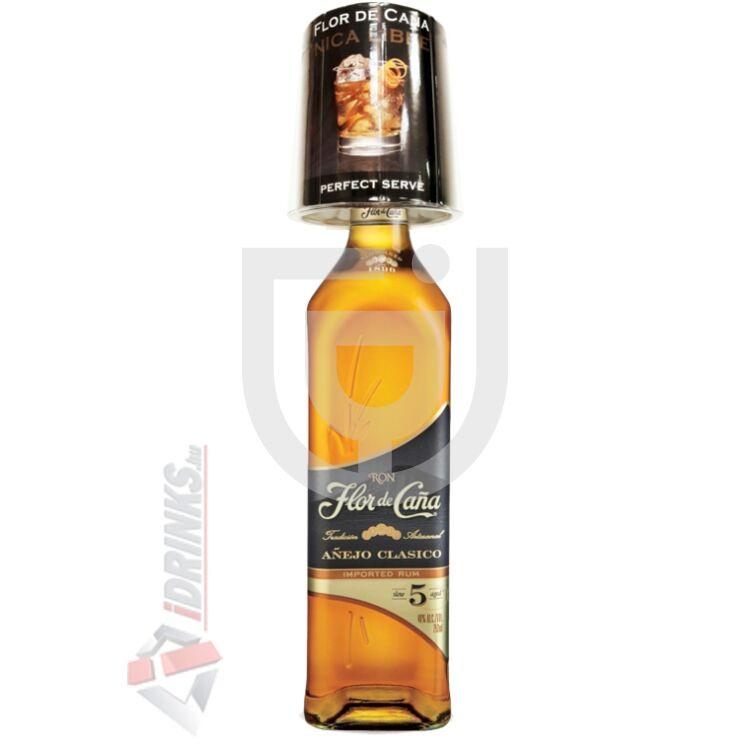 Flor de Cana Clasico 5 Years Rum (Ajándék pohárral) [0,7L|40%]