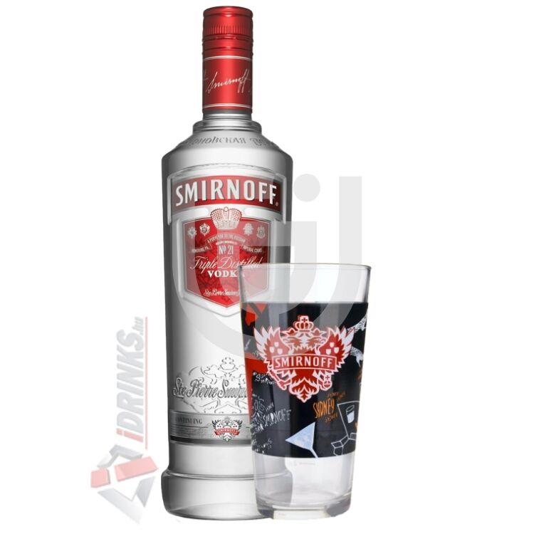 Smirnoff Red Vodka (Ajándék pohárral) [0,7L 37,5%]
