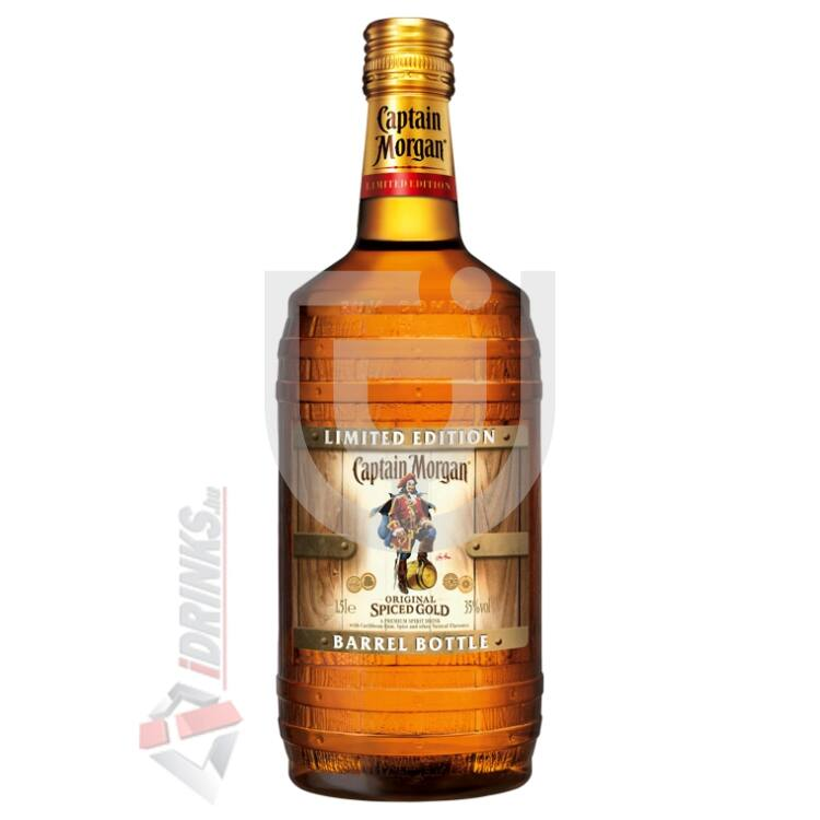 "Captain Morgan Spiced Gold ""Barrel Bottle"" Rum [1,5L|35%]"