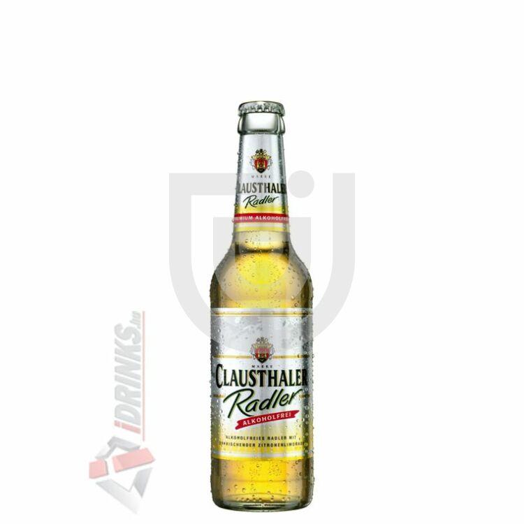 Clausthaler Lemon Radler /Üveges/ [0,33L|0%] [24db/pack]