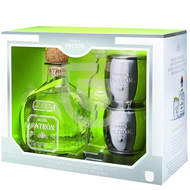Patron Silver Tequila (DD + 2 Pohár) [0,7L|40%]