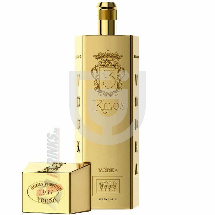 3 Kilos Vodka Gold 999.9 [1L|40%]