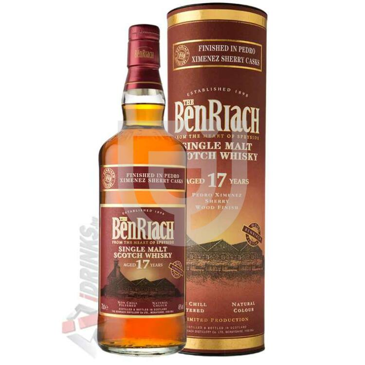 BenRiach 17 Years Pedro Ximenez Sherry Finish Whisky [0,7L|46%]