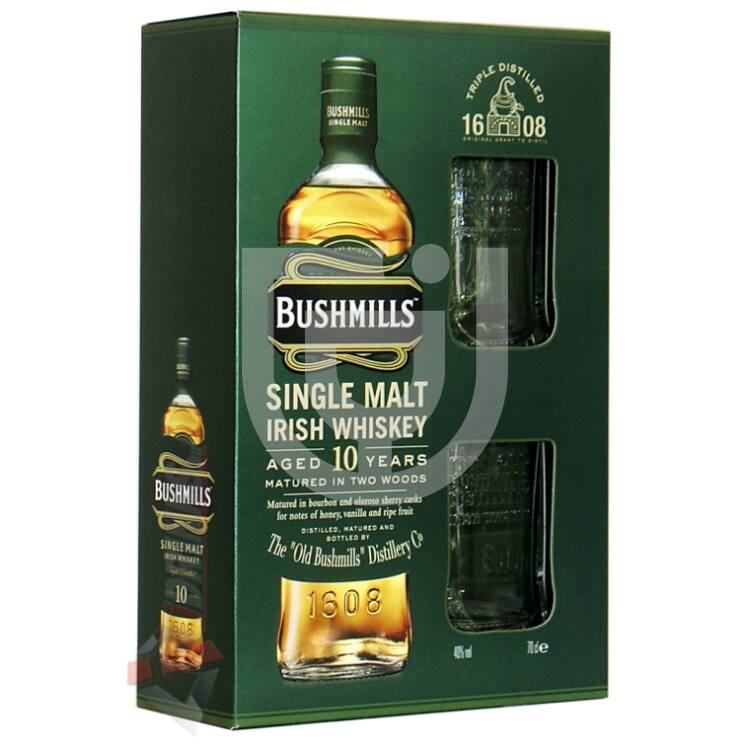 Bushmills 10 Years Whiskey (DD+2 Pohár) [0,7L|40%]