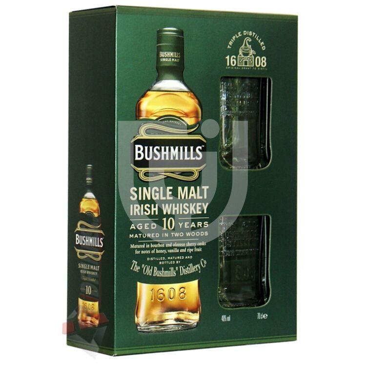 Bushmills 10 Years Whiskey (DD+2 Pohár) [0,7L|40%]
