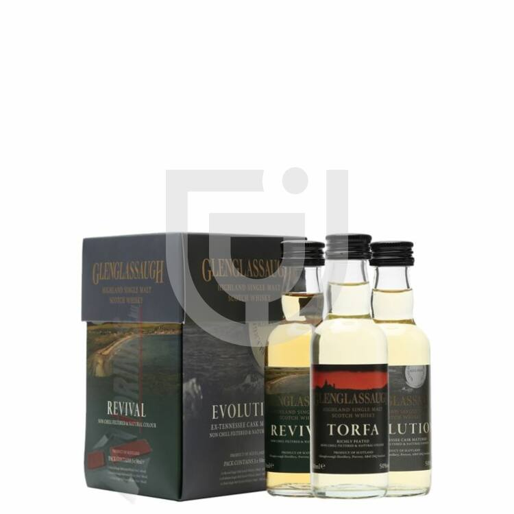 Glenglassaugh Whisky Triple Pack Mini [0,15L|48,67%]