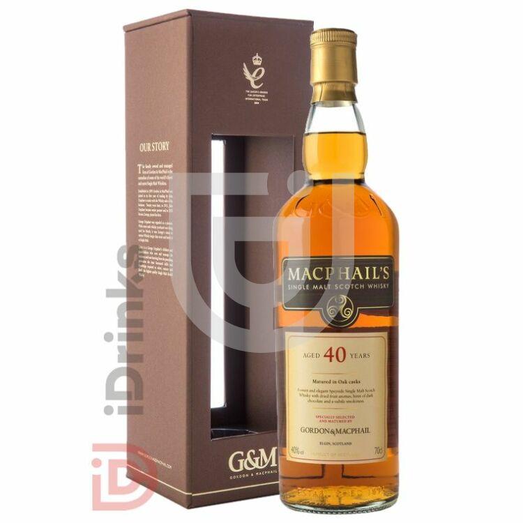 Gordon & MacPhail Macphails 40 Years Whisky [0,7L|40%]