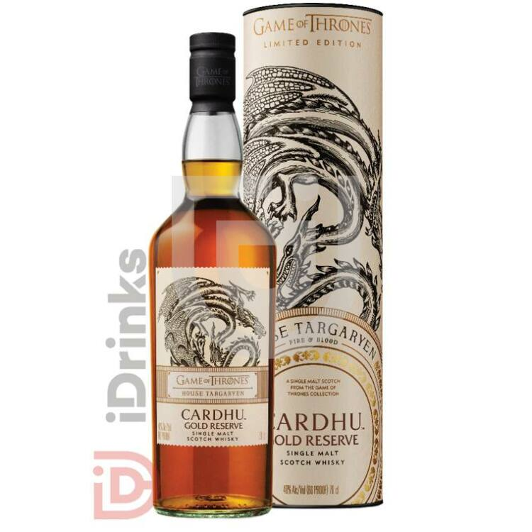 House Targaryen & Cardhu Gold Reserve Whisky - Game of Thrones Collection [0,7L 40%]