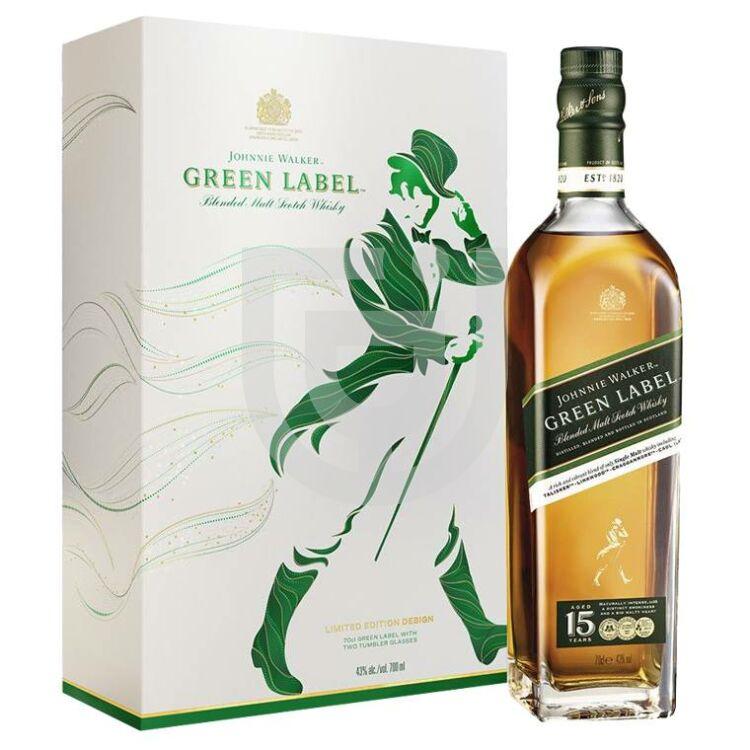 Johnnie Walker Green Label Whisky (DD+2 Pohár) [0,7L|43%]