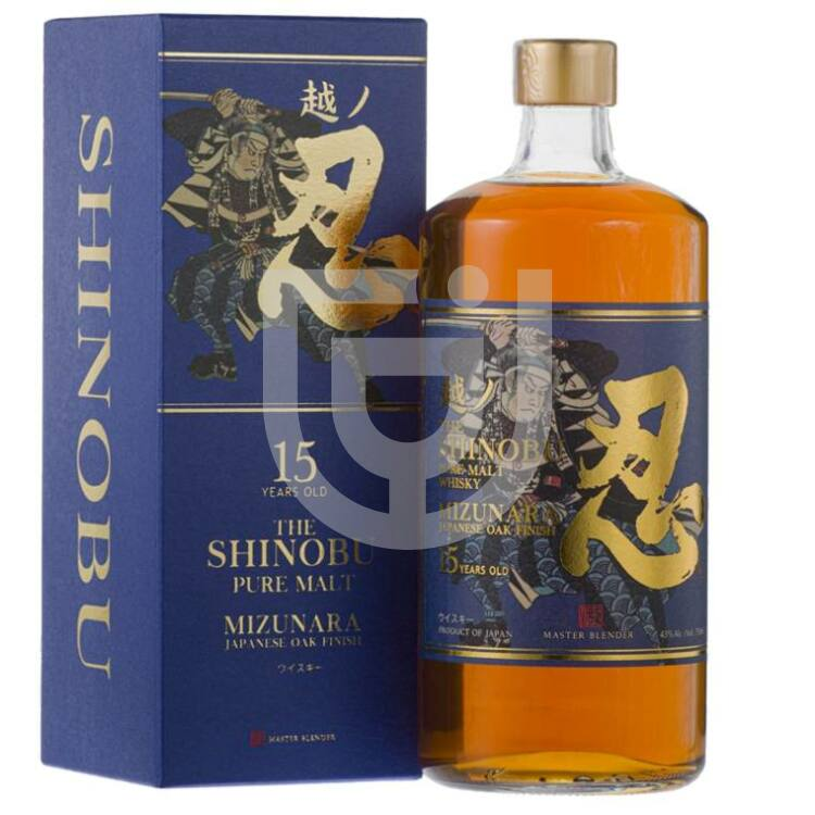 Shinobu 15 Years Pure Malt Whisky Mizunara Oak Finish [0,7L|43%]