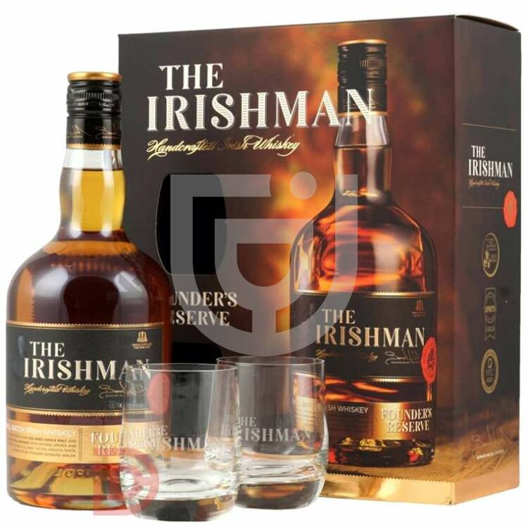 The Irishman Founders Reserve Whiskey (DD+2 Pohár) [0,7L 40%]