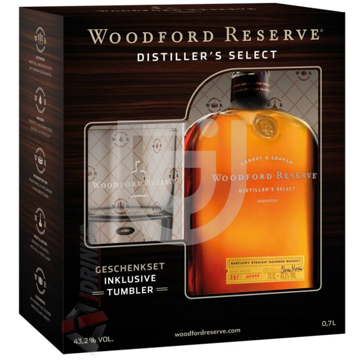 Woodford Reserve Whiskey (DD+Pohár) [0,7L|43,2%]