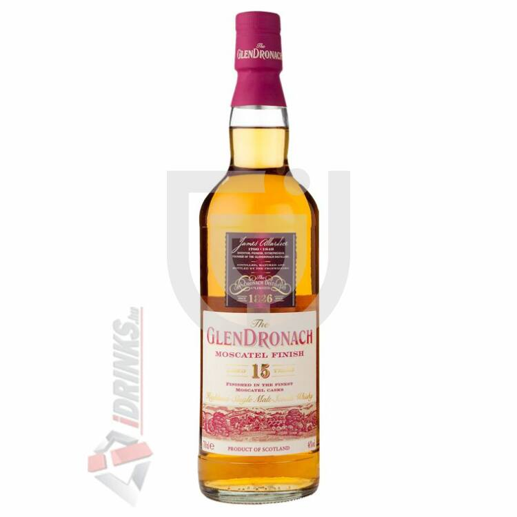 GlenDronach 15 Years Moscatel Finish Whisky [0,7L|46%]