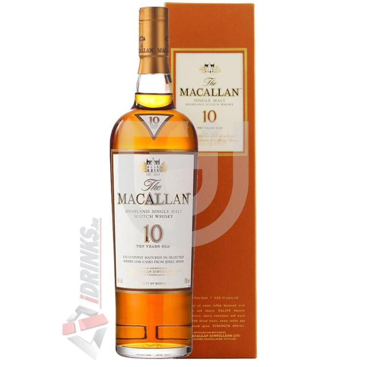Macallan Sherry Oak 10 Years Whisky [0,7L|40%]